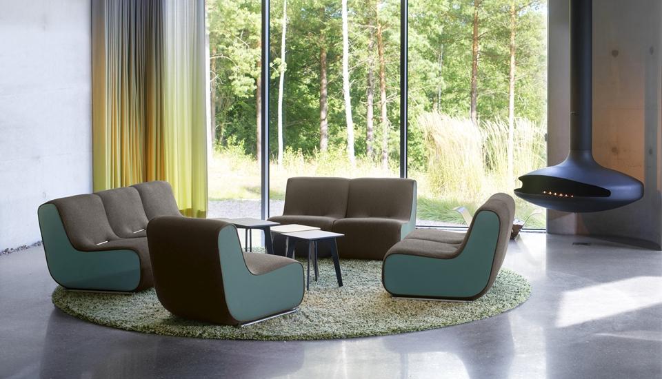 Soffor Kvalitet : Produkter innovativa designmöbler av hög kvalitet blå station